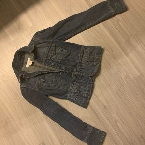 "Jean jacket ""cinched waist"" by Calvin Klein"